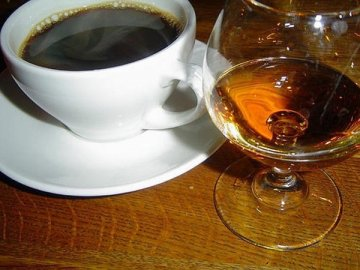Кофе и коньяк