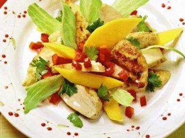 как приготовить салат с манго