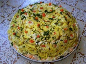 Салат из блинчиков