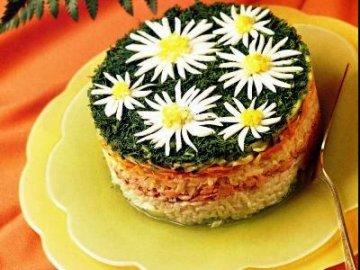красивое оформление салатов