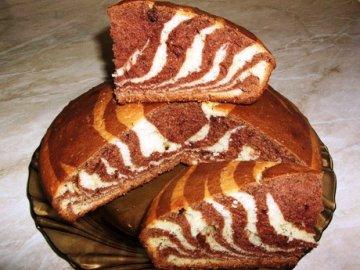 рецепт пирога зебра