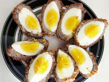 Яйца в котлете