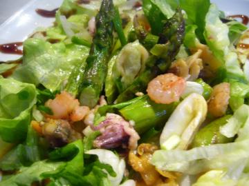 салат со спаржей