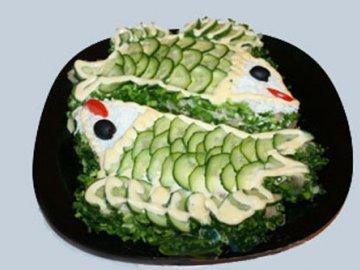 еврейская кухня, рыбный салат