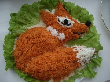 салат лисичка