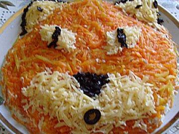 как украсить салат лисичка