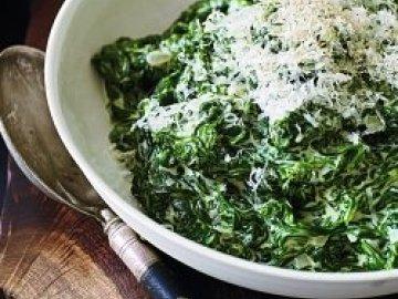 Как сделать шпинат в сливках