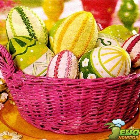 как украсить яйца