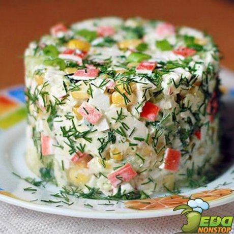 салат с крабовыми палочками без риса