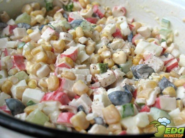 Крабовый салат без риса