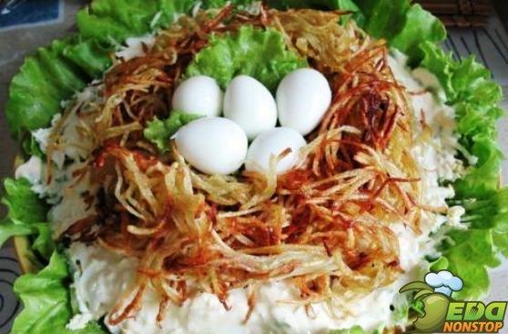 овощей одних вареных Салат с