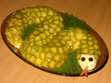 салат змея
