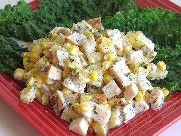 Курица с ананасами салат слоями