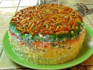 салат грибная поляна фото