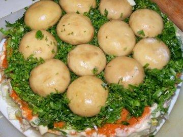 Грибы салат