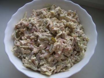 Рецепт салата с языком