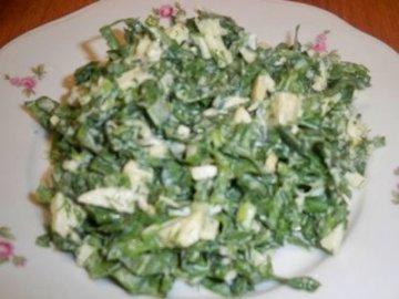 рецепт салата со щавелем