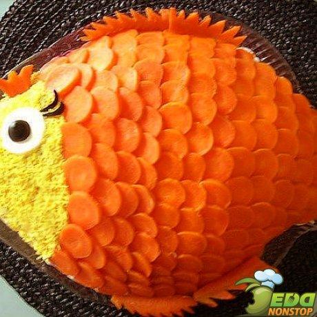 """Украшение """"Морковная рыбка"""""""