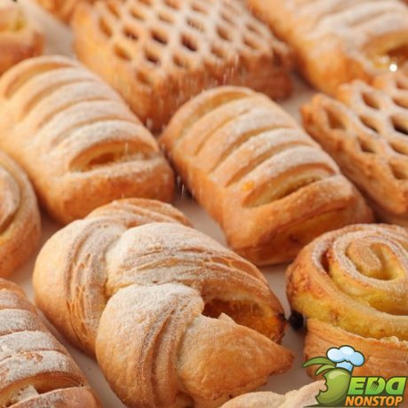 Печенье из слоеного бездрожжевого теста