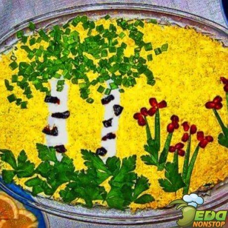 салат белая березка
