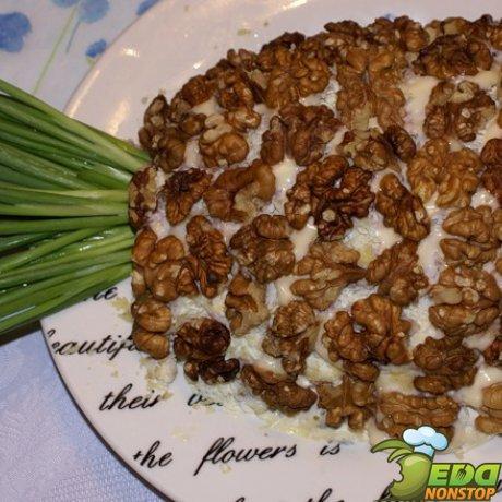 грибы курица яйцо салат
